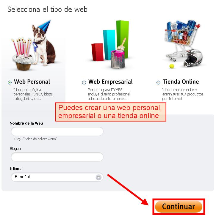 Como crear tu web 2 webnode blog Crear website