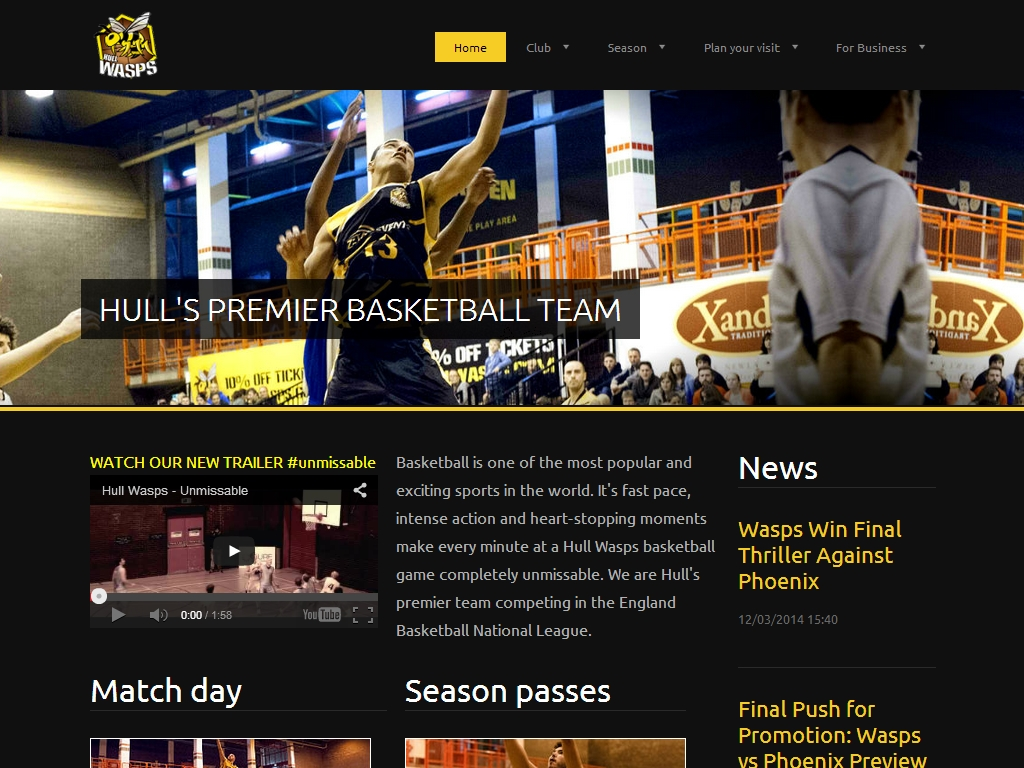 Hull Wasp Basketball Team