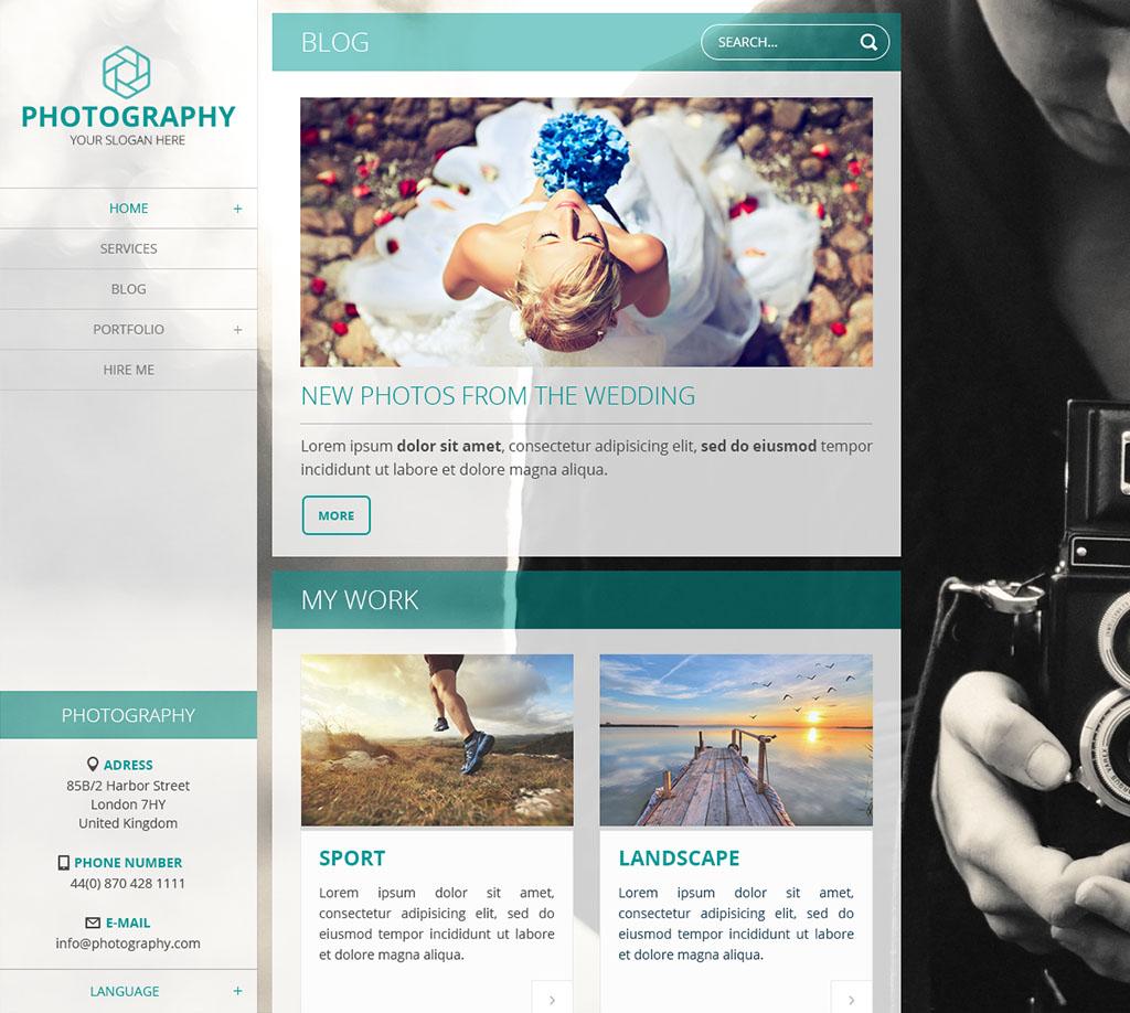 Plantilla web de Webnode gratuita Nevia - Azul