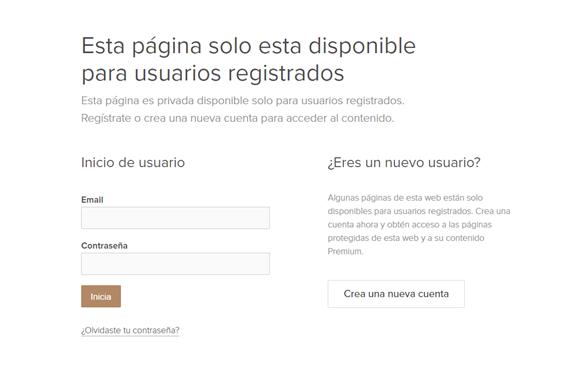 Formulario de registro e inicio de sesión